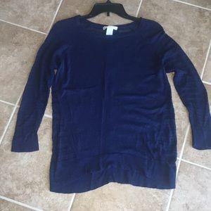 Navy blue sweater, size M